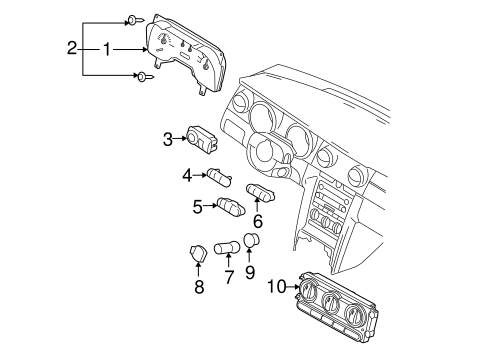 HVAC/Controls for 2006 Ford Mustang #1