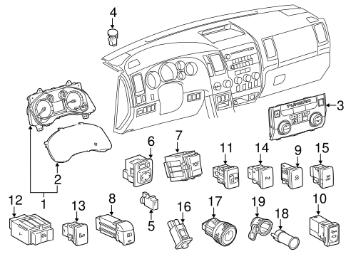 ELECTRICAL/HEADLAMP COMPONENTS for 2014 Toyota Tundra #2