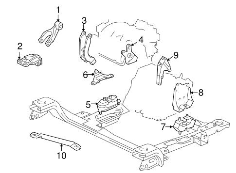 oem 2003 pontiac montana engine trans mounting parts. Black Bedroom Furniture Sets. Home Design Ideas