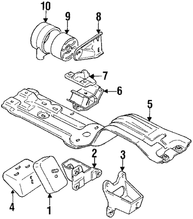 1989 1998 Suzuki Side Bracket 1175560a01