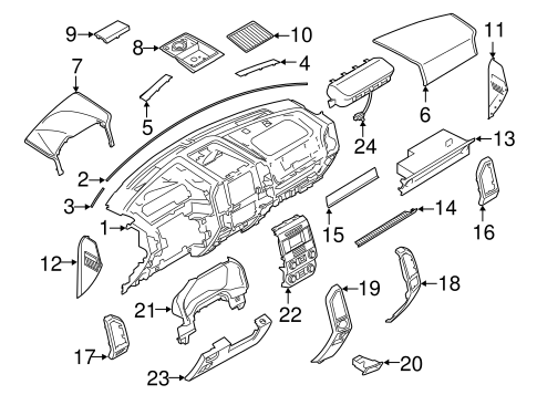 Instrument Panel Components For 2018 Ford Expedition