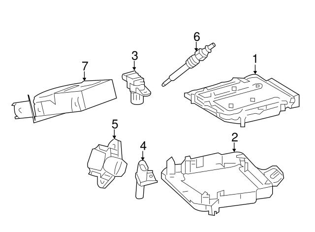 2007 2017 Mercedes Benz Camshaft Position Sensor 005 153 13 28