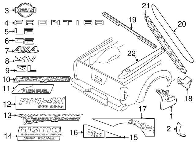 Genuine Nissan Protector 78812-ZP10A