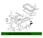 Sunroof Guide Jaw - Volkswagen (8D5-877-482)