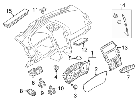 Electrical/Headlamp Components for 2012 Ford Explorer #3
