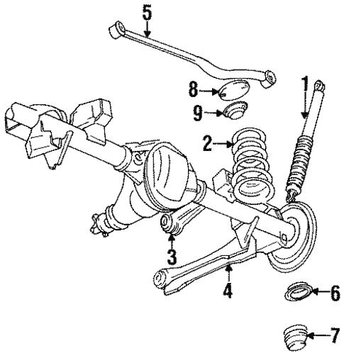Rear Suspension For 1996 Jeep Grand Cherokee