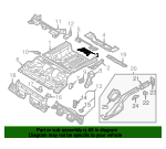 Battery Tray Retainer - Audi (1T0-803-274)