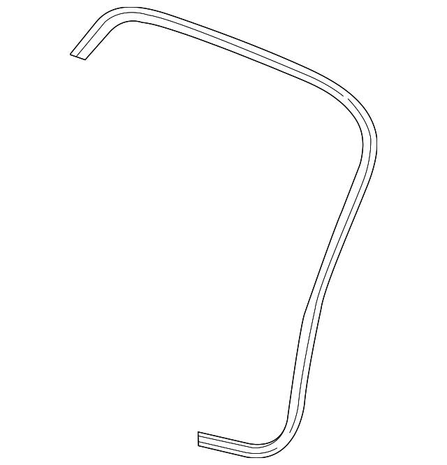 Honda Genuine 72875-T5A-J01 Door Weatherstrip
