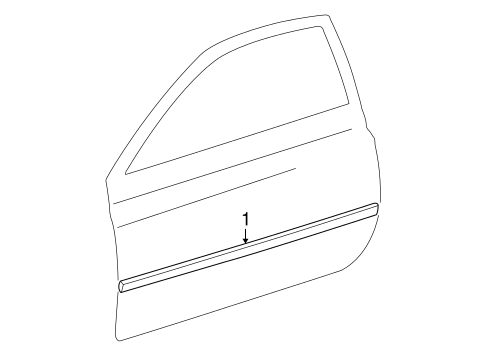 BODY/EXTERIOR TRIM - DOOR for 2002 Toyota Solara #1