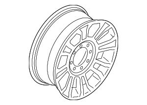 Wheel, Alloy - Ford (HC3Z-1007-G)