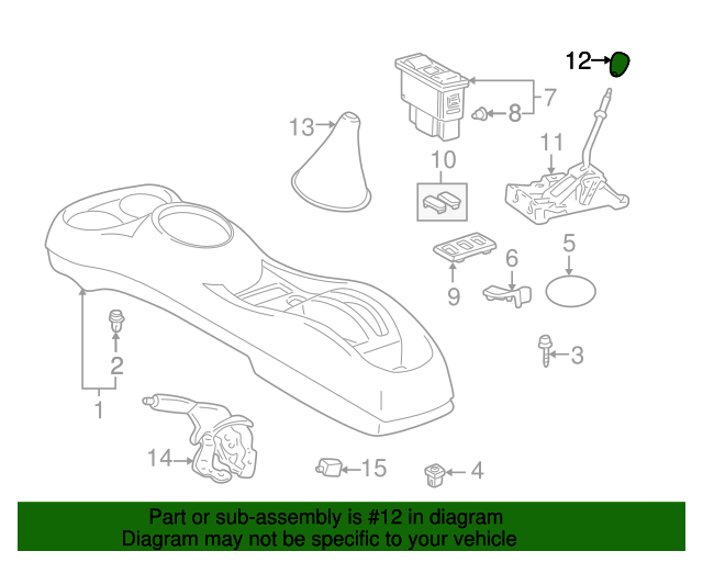 Toyota Genuine 33504-12180-B7 Shift Lever Knob Sub Assembly