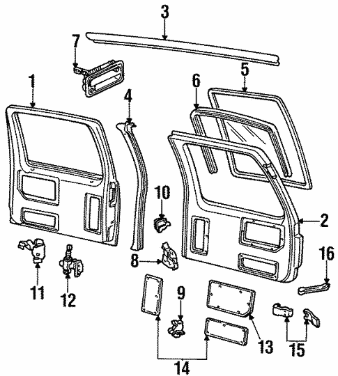 Back Door for 2000 GMC Yukon #1