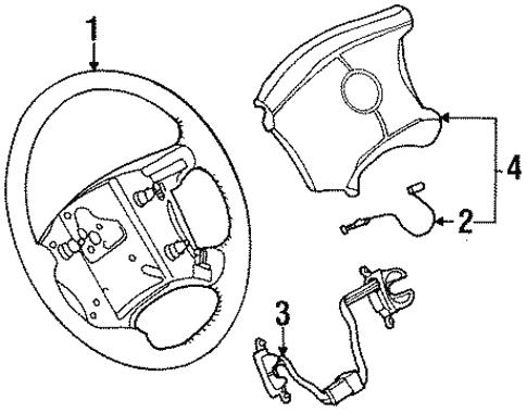 Steering Wheel Trim For 2000 Cadillac Eldorado