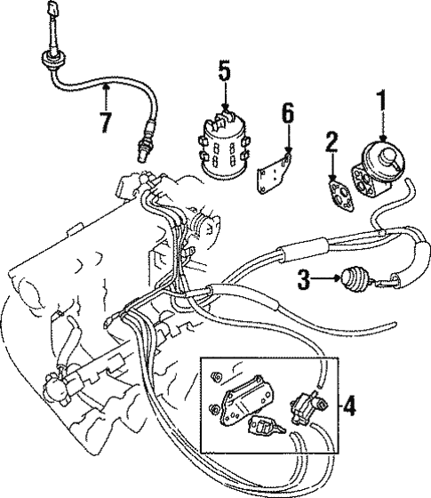 Egr System For 1998 Mitsubishi Mirage