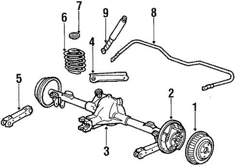 rear brakes for 1986 oldsmobile cutlass supreme  brougham