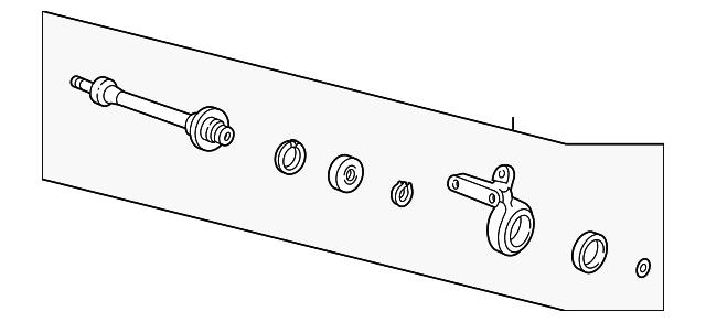 Shaft Assembly, Half - Acura (44500-SR3-J01)