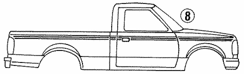 Body/Stripe Tape for 1997 Ford Ranger #1