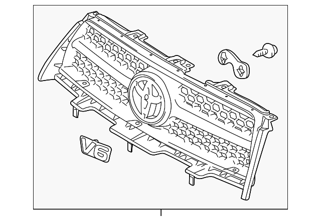 grille assembly - toyota (53101-0r020)