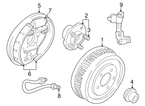 Rear Brakes For 2001 Mercury Sable
