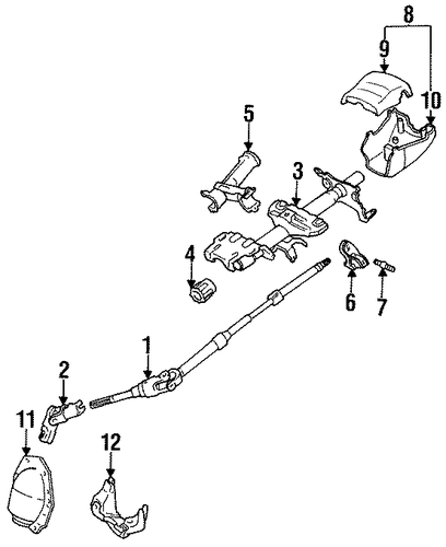 STEERING/STEERING COLUMN ASSEMBLY for 1996 Toyota Corolla #3