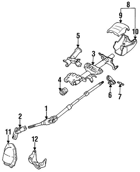 genuine oem steering column assembly parts for 1997 toyota corollasteering steering column assembly for 1997 toyota corolla 3