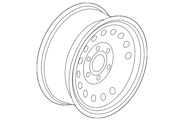 Genuine GM 9596426 Spare Wheel