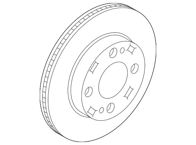 MITSUBISHI OEM 2017 Mirage-Disc Brake Rotor 4615A129