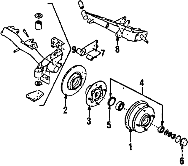 1985 1993 Subaru Trailing Arm 21015ga153