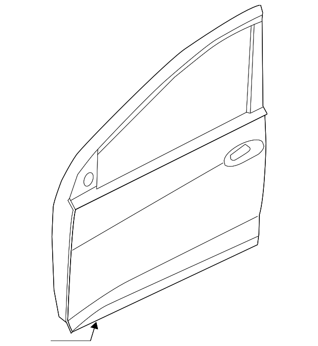 Genuine Hyundai 76004-26100 Door Panel Assembly Right Front