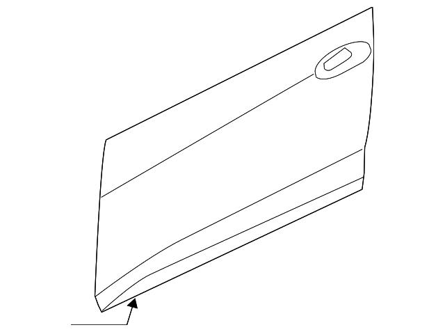 Genuine Hyundai 83140-3X000 Door Weatherstrip Assembly