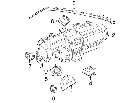 Air Bag Components For 2000 Jeep Grand Cherokee