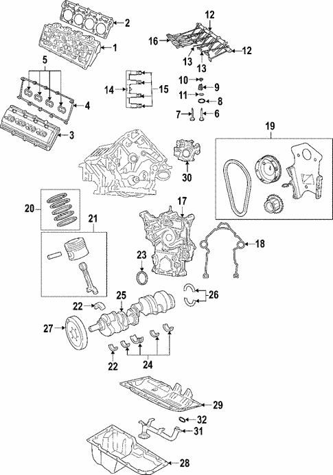 engine parts for 2006 jeep commander