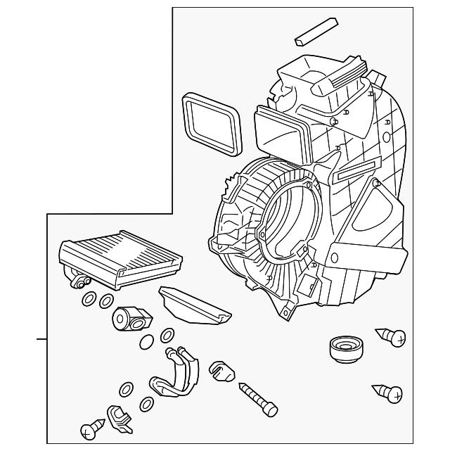 2011 2016 Honda Odyssey 5 Door Evaporator Assembly 80226 Tk8 A02