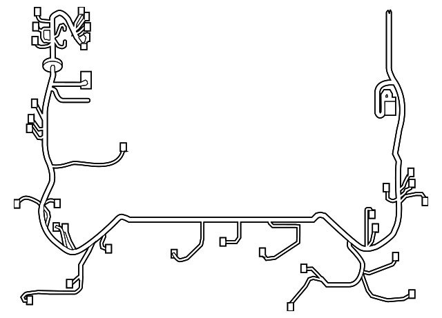 engine harness - toyota (82111-0c672)