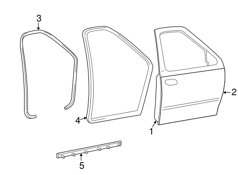 Body/Door & Components for 2003 Ford F-150 #3