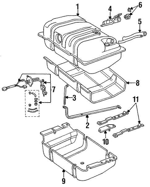 Fuel System Components For 1996 Jeep Cherokee