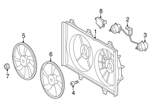 Cooling Fan For 2018 Toyota Highlander
