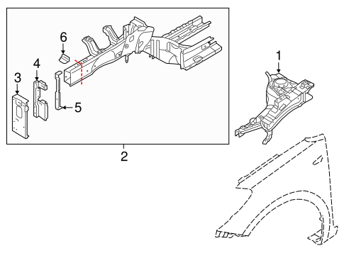 Structural Components Rails For 2015 Kia Forte