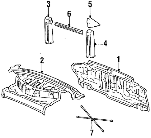 BODY/REAR BODY PANEL for 1998 Toyota Celica #1
