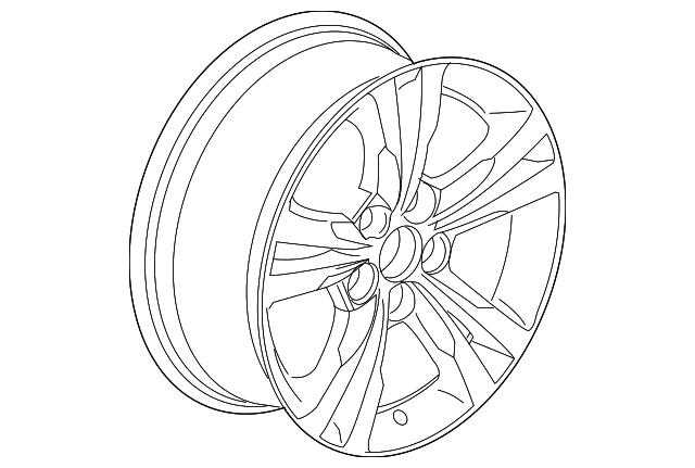 2016 2017 chevrolet equinox wheel alloy 23446989 gm parts mania 2018 Chevy Equinox Redesign wheel alloy gm 23446989