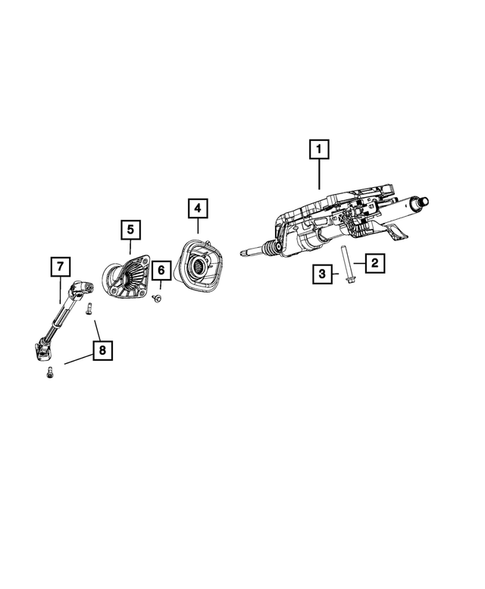 Steering Column and Intermediate Shaft for 2019 Jeep Grand Cherokee #0