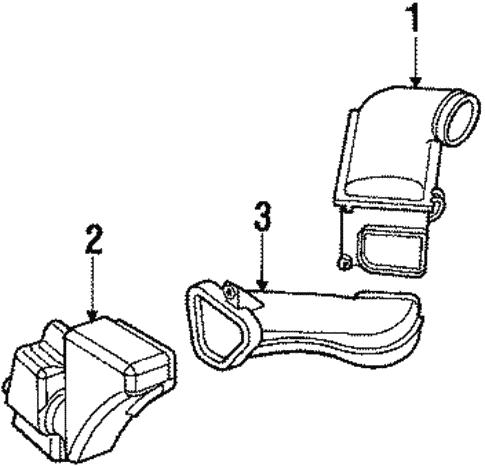 [DIAGRAM_1JK]  OEM 1990 Mercury Sable Air Intake Parts - BlueSpringsFordParts.com | 1990 Mercury Sable Engine Diagram |  | Blue Springs Ford Parts