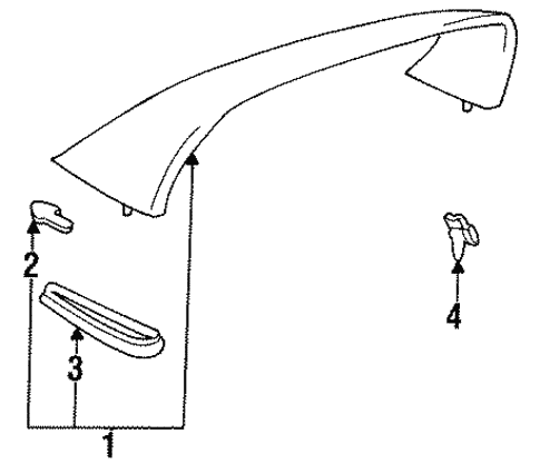 Toyota Genuine 76853-14020 Spoiler Retainer