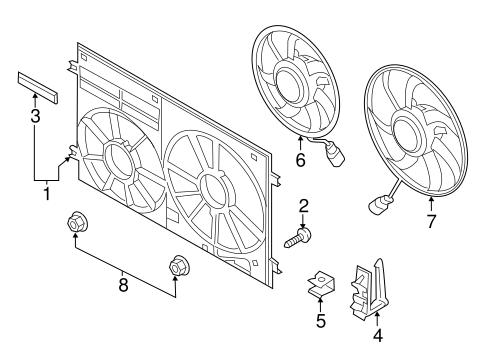 Cooling Fan For 2018 Volkswagen Jetta