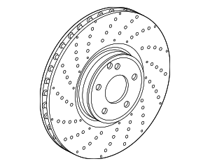 Benz Left Disc Brake Rotor 222-421-13-00 - Mercedes-Benz (222-421-13-00)