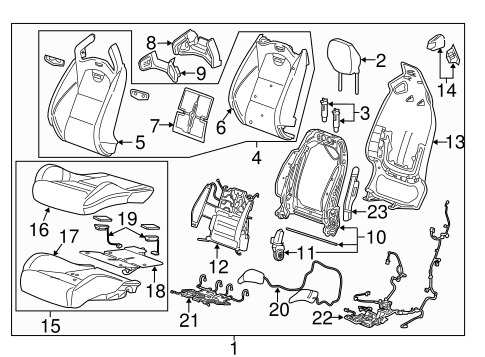 Oem Driver Seat Components For 2016 Cadillac Ats