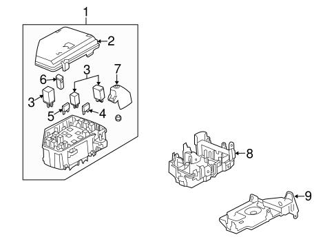 fuse relay parts for 2009 buick enclave. Black Bedroom Furniture Sets. Home Design Ideas