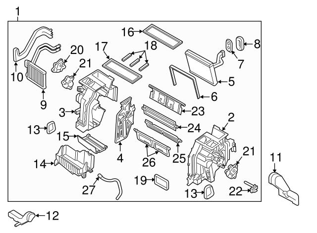 Genuine Hyundai 97146-3S000 Vent Door Assembly