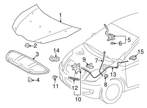 Hood Components For 2014 Toyota Yaris