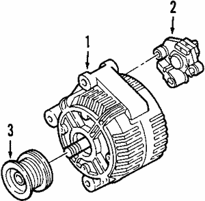ALTERNATOR 8603496 SUPERSEDES TO 36001463